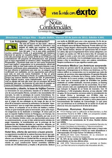 Las Autopistas: ¿Otra frustración? Innovación y ... - Fenalco Antioquia