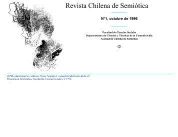Revista Chilena de Semiótica - Facultad de Ciencias Sociales ...
