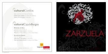 ZARZUELA - Cultural Caja de Burgos