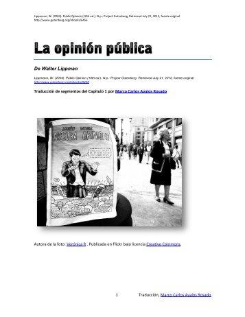 De Walter Lippman - opinion-publica