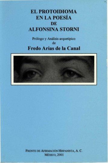 EL PROTOIDIOMA EN LA POESÍA Fredo Arias de la Canal