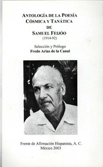 antología de la poesía cósmica y tanática de samuel feijóo