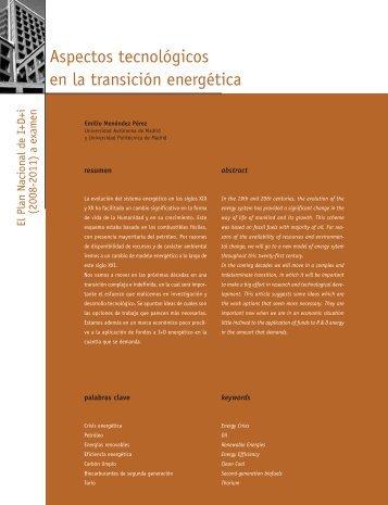 Aspectos tecnológicos en la transición energética - Madri+d