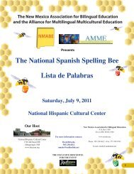 The National Spanish Spelling Bee Lista de Palabras