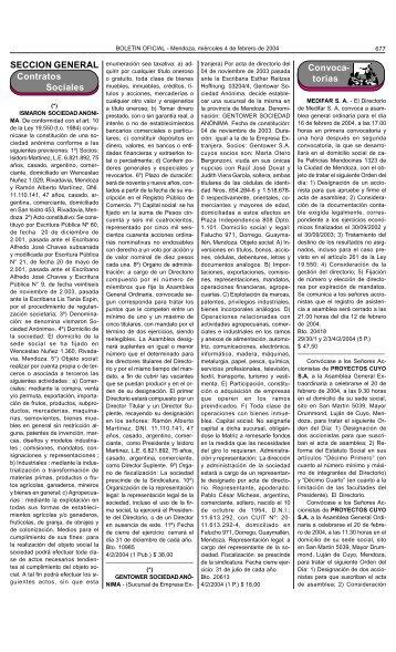 Boletin Oficial N 27084 del 04/02/2004 - Gobierno de Mendoza