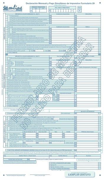 Formulario 29 - Servicio de Impuestos Internos