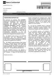 CONTRATO DE OPERACIONES Y SERVICIOS BANCARIOS ...