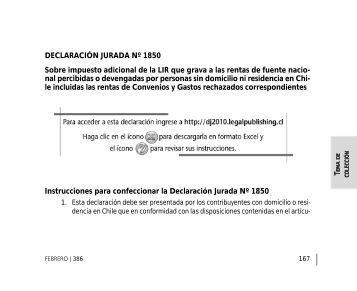 DECLARACIÓN JURADA Nº 1850 Sobre ... - Legal Publishing