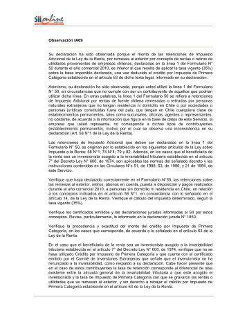 IA09 - Servicio de Impuestos Internos