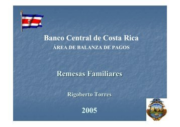 Remesas Familiares Banco Central de Costa Rica 2005