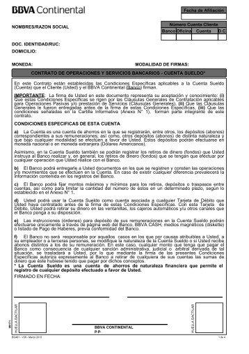 Cuenta Sueldo - BBVA Banco Continental