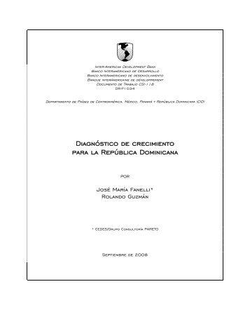 Diagnóstico de crecimiento para la República Dominicana - Harvard ...