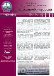 Boletín Economía y Negocios #22 - Universidad Tecnológica ...