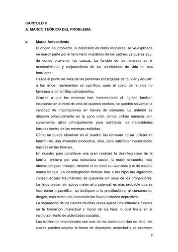 8 CAPITULO II A. MARCO TEÓRICO DEL PROBLEMA: a. Marco ...