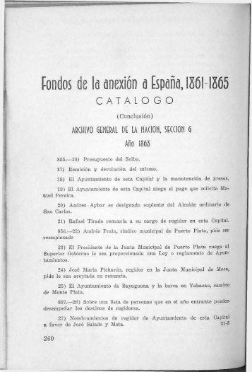 Fondos de la anexión a España, 1861-1865 - BAGN