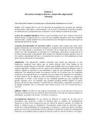 Modulo 2 Inversión extranjera directa y desarrollo empresarial ...