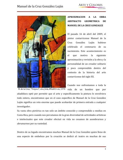 Obra abstracto geométrica, Manuel de la Cruz pdf - Arte y Colores ...
