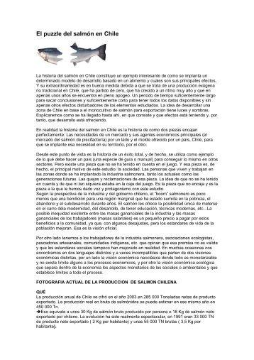 El puzzle del salmón en Chile - ODG