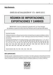 régimen de importaciones, exportaciones y cambios - Legis