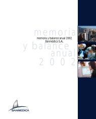 1 MEM. BANM 2002. 1-25 copy - Empresas Banmedica