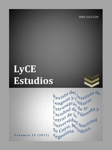 LyCE Estudios - Facultad de Filosofía y Letras - Universidad ...