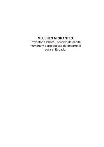 mujeres migrantes - Instituto de Estudios Ecuatorianos