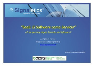 SaaS: El Software como Servicio - Barcelona Digital Centro ...