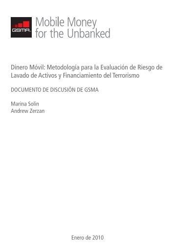Dinero Móvil: Metodología para la Evaluación de Riesgo de ... - GSMA