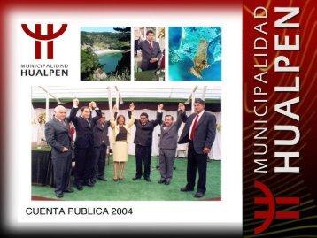 Cuenta Pública 2004 - Municipalidad de Hualpén Online