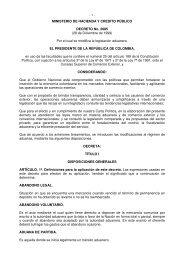 MINISTERIO DE HACIENDA Y CREDITO PÚBLICO ... - VERTIC