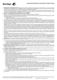 Condiciones Generales de contratación. Tarjeta Ibercaja