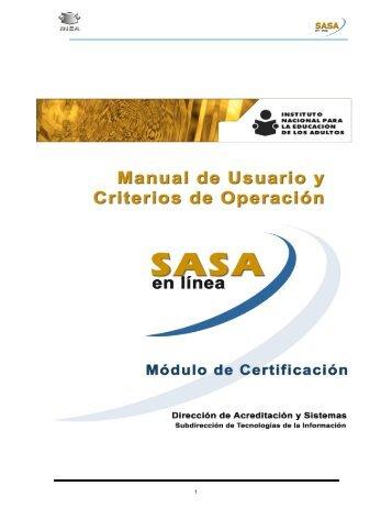 Certificación - Instituto Estatal de la Educación para los Adultos - INEA