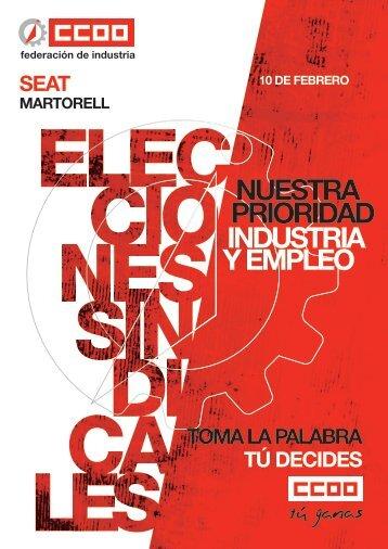 nuestra prioridad - Federació d'Indústria de CCOO de Catalunya