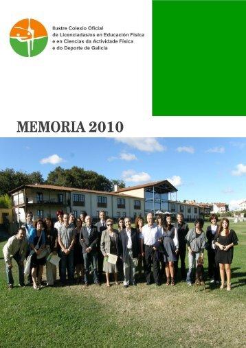 MEMORIA 2010 - COLEF Galicia