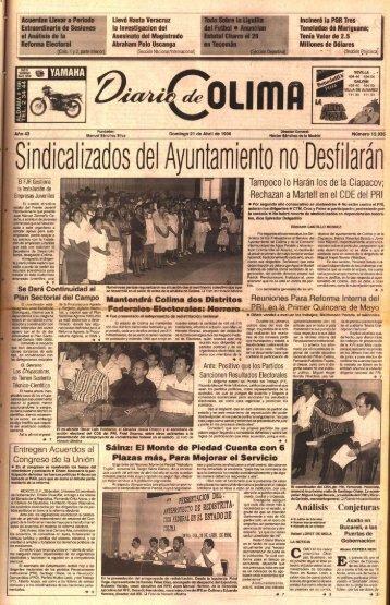 Sindicalizados del Ayuntamiento no Desfilarán - Universidad de ...