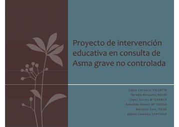 Proyecto de intervención educativa en consulta de Asma ... - CODEM