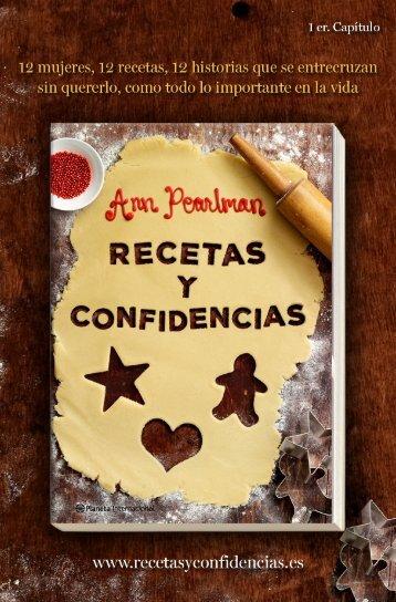Recetas y confidencias - PlanetadeLibros.com
