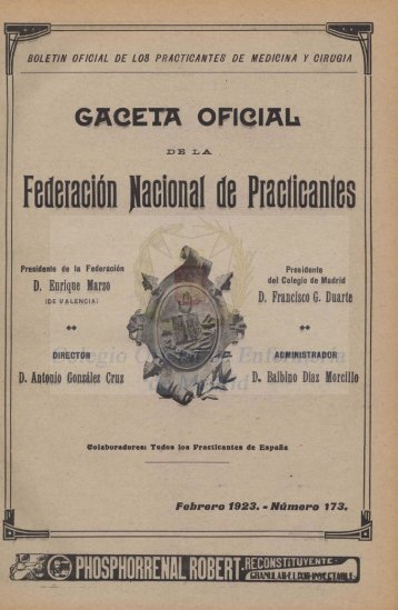 Año XIX. Nº. 173 Febrero 1923 - CODEM