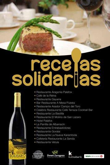 libro de recetas solidarias - Down Zaragoza