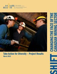 CHANGING THE FACE OF THE CANADIAN MINING SECTOR