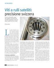 Viti a rulli satelliti: precisione svizzera