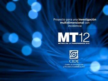 Proyecto para una investigación multidimensional con incidencia