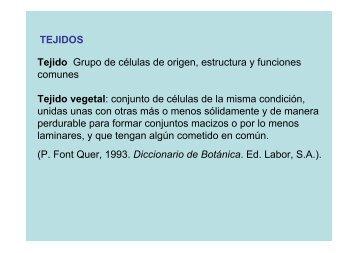 TEJIDOS Tejido Grupo de células de origen, estructura y funciones ...