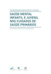 saúde mental infantil e juvenil nos cuidados de saúde primários