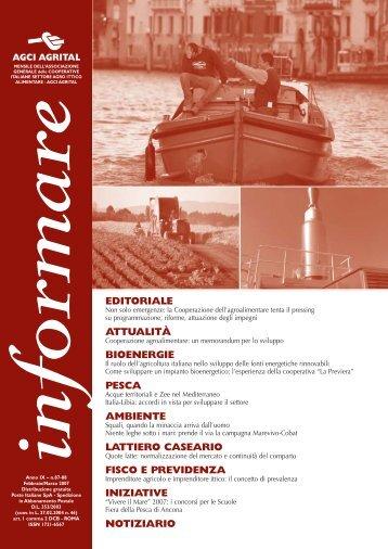 Anno IX nn. 87-88 Febbraio - Marzo 2007 - Agci-Agrital