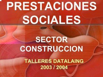 prestaciones sociales sector construccion (taller)