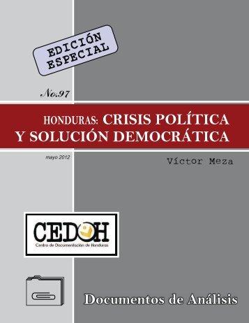 CRISIS POLÍTICA Y SOLUCIÓN DEMOCRÁTICA - Centro de ...
