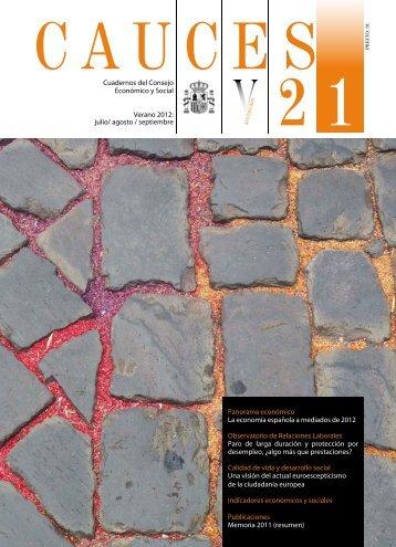 Cauces nº 21 - verano 2012 - Consejo Económico y Social