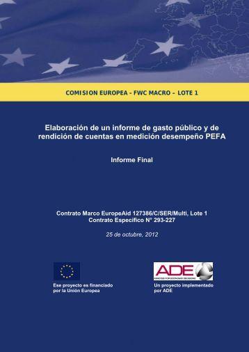 Informe Final PEFA 2012 República Dominicana - Ministerio de ...