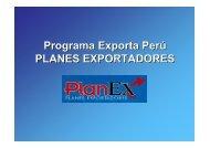 Programa Exporta Perú PLANES EXPORTADORES - Siicex